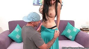 Busty milf Francesca Leon gets a difficulty load of shit stimulant