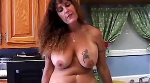 Beautiful big tits MILF is feeling scalding