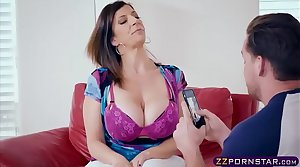 Busty MILF nourisher fucks with an obstacle neighbours boy for money