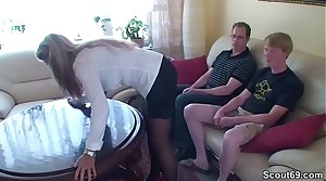 Two Young Boys Seduce German MILF to Be captivated by