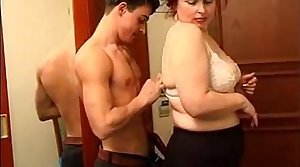BBW Mature Woman plus Younger Boy