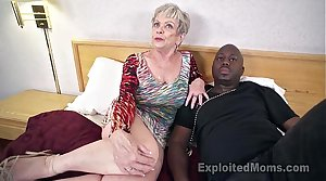 Of age Grandma with Big Tits lets a Black Cock cum Median her Creampie Video