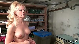 Big boobed french grown-up gets her ass pounded