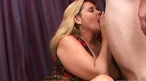 Mature BBW fucked hard in every hole coupled with facialized