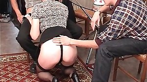 French of age anal fucked in threesome