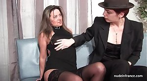 FFM French mature ass fucked for her inferior casting embed with a redhead slut
