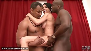 Interracial hardcore mature babe fucked off out of one's mind two black cocks doublepenetrated anal