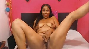 Down in the mouth Beautiful Mature Ebony Latina on Webcam