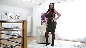 Busty seduction with ultra hot opulence Milf Emma Derriere makes you cum big time