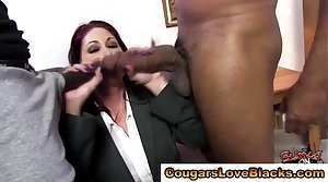 Interracial mature complain sucks on cocks
