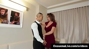 Horny Cougar Toddler Deauxma Fucks Room Service Guy in Hotel!