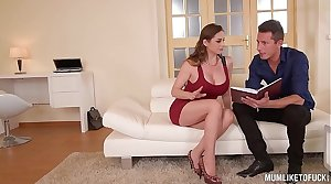 Mom Next right of entry Cathy Heaven goes wild in DP Threesome