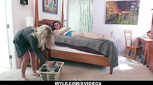 MYLF - Super Milf Lets Her Big Dick Stepson Fianc� Her Raw