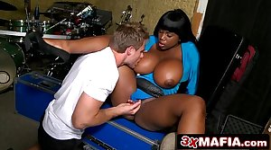 Schoolboy From Along to Band Fucking Jumbo Sized Jugs be expeditious for Ebony MILF Maserati