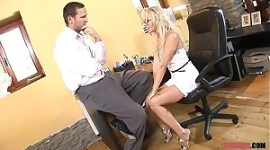 Blonde MILF in High Heels Rides Dude the Couch  Porn