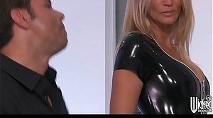 Jessica Drake strips out of say no to Latex requisites before anal