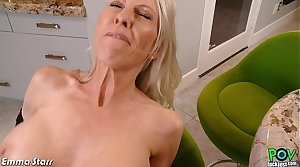 Busty Emma Starr round cock in POV