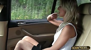 Short skirt minx rides cock in the air taxi in the air reverse cowgirl