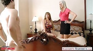 Moms Darla Crane and Emma Starr gets fucked and facialized