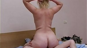Blonde mommy with son