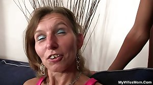 Granny fucks their way daughter's BF plus GF watches
