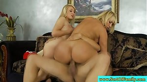 Real stepmom and stepdaughter fuck cadger