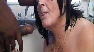 Slutty grandma wean away from EpikGranny.com sucks black load of shit