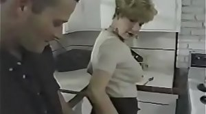 Granny Fucks Young Dick In The Kitchenette