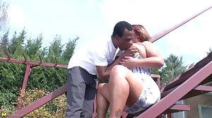Amateur adult mom takes adult black cock