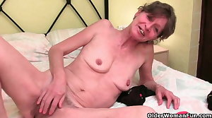 British granny with hairy pussy needs back away from