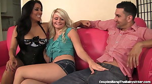 Horny Couple Fuck The Babysitter Together!
