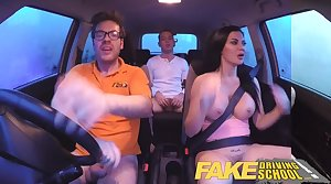 Carry on Driving School interrogation detailing ends in threesome creampies