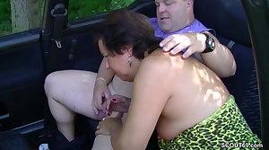 German MILF Mom Seduce to Fuck Outdoor wits Stranger