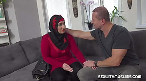 In debt sexy muslim gets boned