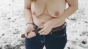 Shy Milf ought to strip naked and drag inflate cock in a release park: Mindy Sparkle