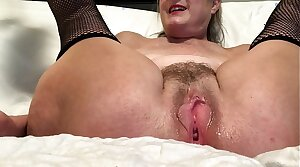 Horny Wife Spreads Her Pussy With the addition of Masturbates With Her Favorite Toy