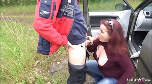 Ugly German Mature Street Hooker Open-air Fuck off out of one's mind Young Guy