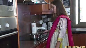 Newly married Indian bhabhi strips her salwar together with loses her self-restraint with devar ji