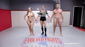 Carmen Valentina nude wresting fight with Lancet Hart winner fucks loser
