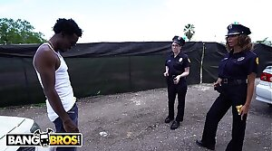 BANGBROS - Lucky Suspect Gets Tangled On touching On touching Some Well-endowed Sexy Female Cops