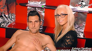 GERMAN CASTING - first adulthood FFM threesome in the matter of girlfriend
