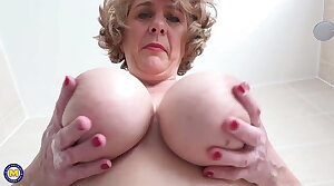 British mother with perfect big boobs