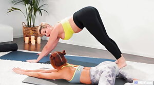 Stepmom And Daughter Having Sexual intercourse After Yoga