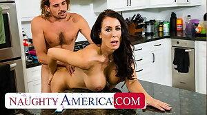 Naughty America - Hot Matriarch Reagan Foxx fucks and sucks